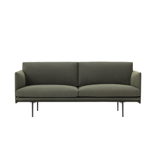 무토 아웃라인 소파 Outline Sofa 2Seater Fiord961 Dark Green