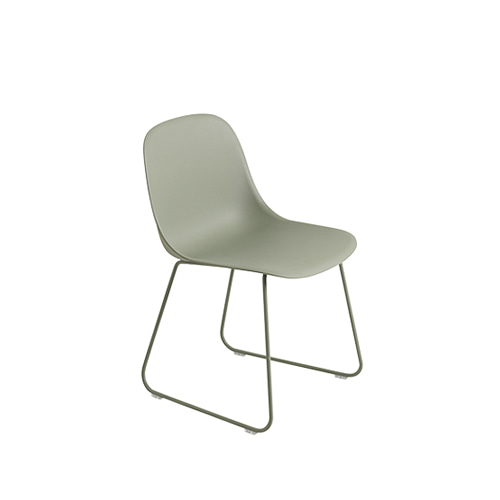 무토 화이버 사이드 체어 Fiber Side Chair Sled Base Dusty Green