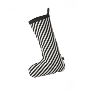 Christmas Stocking Black Stripe