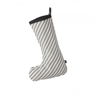 Christmas Stocking Grey Stripe