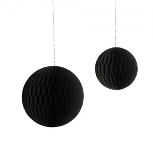 Ornament Paper Art (2pcs) Black