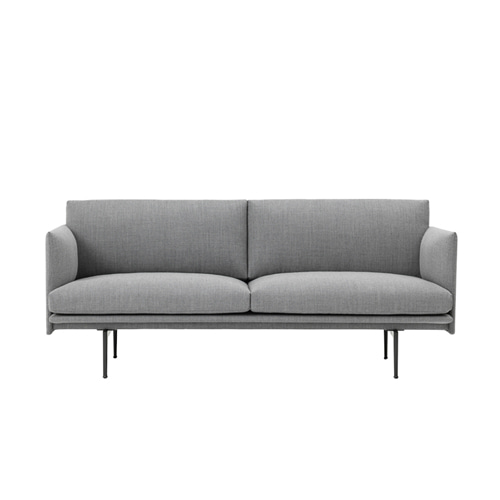 무토 아웃라인 소파 Outline Sofa 2Seater Fiord151 Grey