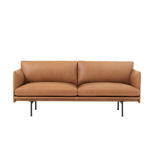 무토 아웃라인 소파 Outline Sofa 2Seater Refine Leather Cognac