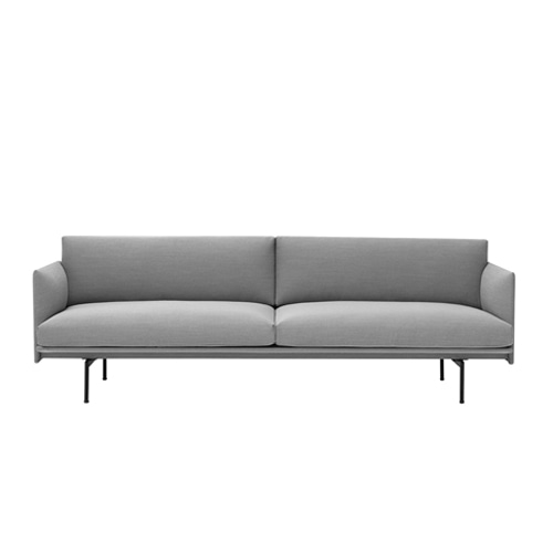무토 아웃라인 소파 Outline Sofa 3Seater Steelcut Trio133