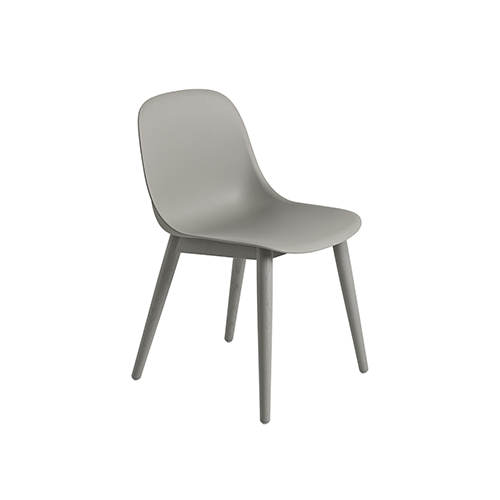 무토 화이버 사이드 체어 Fiber Side Chair Wood Base Grey/Grey