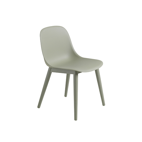 무토 화이버 사이드 체어 Fiber Side Chair Wood Base Dusty Green/Dusty Green
