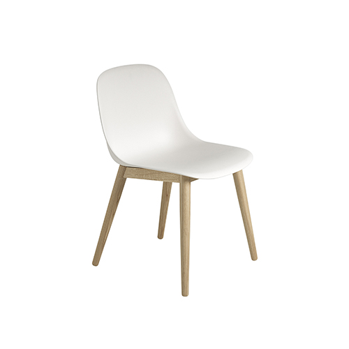 무토 화이버 사이드 체어 Fiber Side Chair Wood Base Natural White/Oak