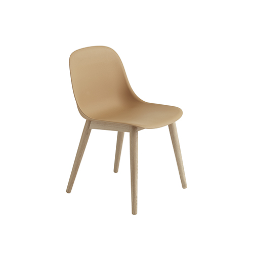 무토 화이버 사이드 체어 Fiber Side Chair Wood Base Ochre/Oak