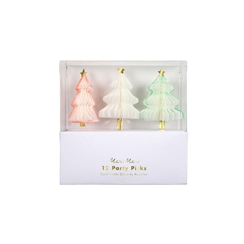 Honeycomb Christmas Tree Party Picks