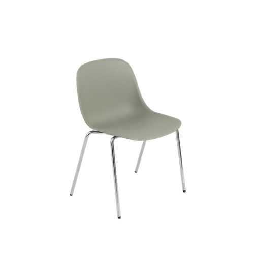 무토 화이버 사이드 체어 A베이스 Fiber Side Chair A-Base Dusty Green/Chrome