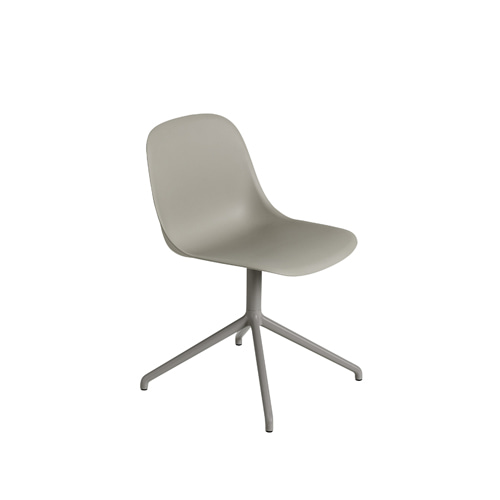 무토 화이버 사이드 체어 스위블 Fiber Side Chair Swivel BaseW.O.Return Grey/Grey