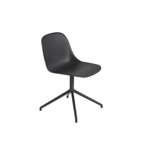 무토 화이버 사이드 체어 스위블 Fiber Side Chair Swivel BaseW.O.Return Black/Black