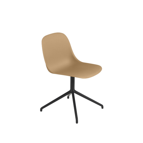 무토 화이버 사이드 체어 스위블 Fiber Side Chair Swivel BaseW.O.Return Ochre/Black