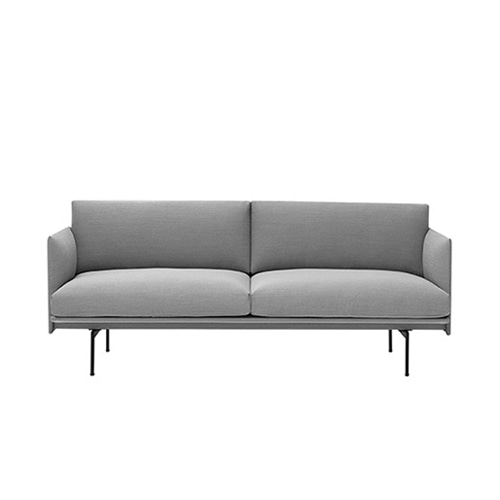 무토 아웃라인소파 Outline Sofa 2Seater Steelcut Trio 133