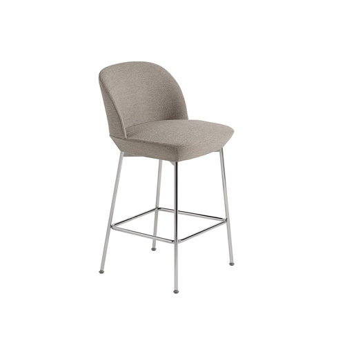 무토 오슬로 카운터 스툴  Oslo Counter Stool H 65cmOcean 32/Chrome