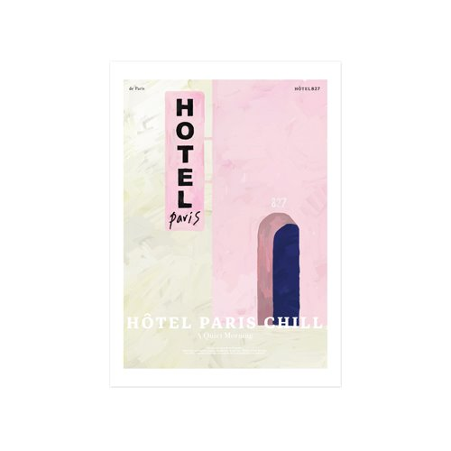 Paris Chill Hotel Art Print