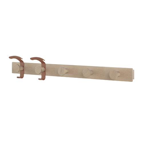 무토 플랭크 코트 랙 Plank Coat Rack Oak/Copper Brown