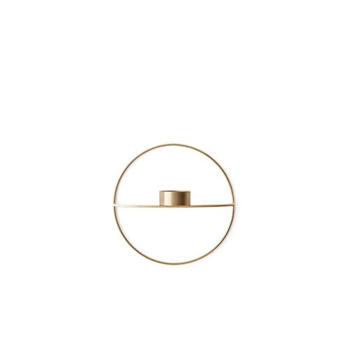 메누 POV 원형 티라이트 홀더 POV Circle Tealight Candleholder Brass Small