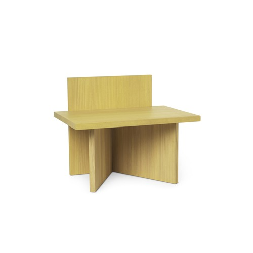 펌리빙 오블리크 스툴 Oblique Stool Yellow Stained Ash