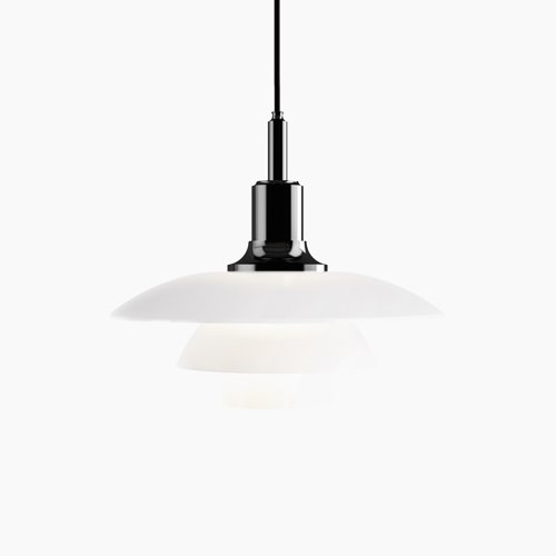 PH 3½-3 Pendant Glass Balck